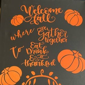 Welcome Fall 16x40 Canvas